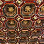 Magnifique plafond de 81 caissons