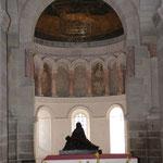 l'abside avec la mosaïque byzantine représentant l'Arche d'Alliance