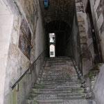 """L'""""escalier Mirebeau construit sur les anciens remparts gallo romains"""
