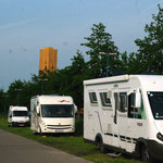 Le parking aux Camping cars