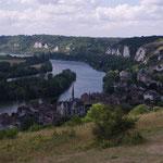 De hâteau Gaillard, superbe vue sur les méandres de la Seine