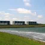 Les installations permettant la régulation du niveau du Lauwersmeer
