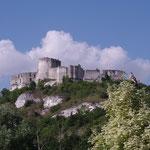 La forteresse vue du camping