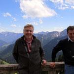 Zwei Männer am Wallberg.