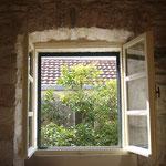 Fenster im Doppelzimmer 1. OG