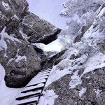 die 20m Leiter zum Rigi Hichflue Gipfel