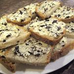 Toast de beurre truffé servi au gîte de Poudally
