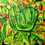 grüne Python 90cm x 90cm