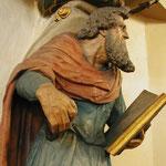 Paulus trägt die Kanzel in der Maxener Kirche