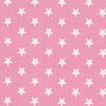 Weiße Sterne auf Rosa
