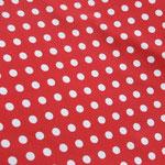 Weiße Punkte auf rot