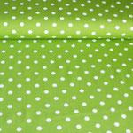 Weiße Punkte auf grün