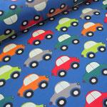 Autos auf Blau