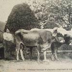 Postal de los años 1900 sacada en Ascain mismo