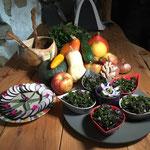 Tartare d'algues et toast de radis noir par Juliette ADDESSO naturopathe au gite de la Gorre stage de bien être et gite à louer en Ardéche