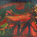 馬、530×455、油彩 キャンヴァス、2017
