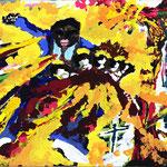 ケニアの呪術師アラオ、312×700、アクリル 板、2016