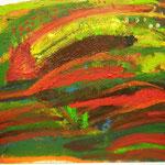 群れ、727×910、油彩 キャンヴァス、2017