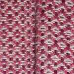 man erkennt gut, die Lilafarbenen Fäden liegen immer zu zweit nebeneinander