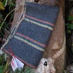 farbige Streifen Pflanzengefärbt : Krapp, Indigo, Reseda