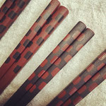 市松2015 (角箸) 東京製の木箸