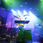 Live-Performance der Newcomerband Tonbandgerät