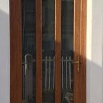 Porta ingresso in pvc effetto legno