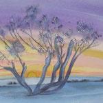 At Sunrise, watercolor, 2013