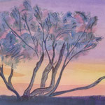 At Sunset, watercolor, 2013