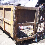 garbage with container....