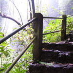 Stairway to the waterfall Aling-Aling