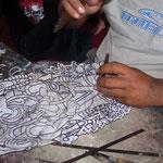 Handicraft-tour: Making of shadow-puppets (wayang kulit)