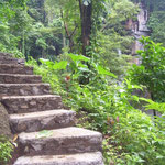 Auf der Treppe zum Fall - on the steps to the waterfall