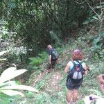 A steep path