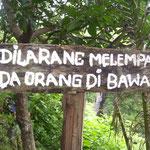 Warnschild - warning sign