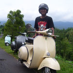 Our PP-Landlord on a Vespa