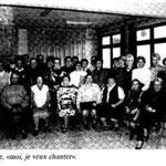 1989 La chorale a ses premières répétitions