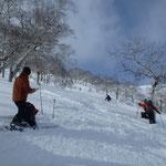 2/23山岳スキー検定会(日勝峠周辺)検定の様子