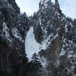 1/18 道岳連氷壁技術講習会 層雲峡 銀河の滝一段目