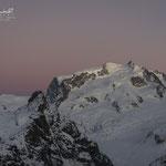 Abendrot über der Monte Rosa (Dufourspitze)