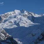 Monte Rosa (Dufourspitze) im Vorabendlicht