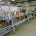 komplexer Konveyor mit spezial Packungsöffner