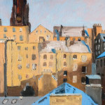 EDINBURGH Schottland (2016), 24 cm x 18 cm. View towards former Highland Tolbooth Church