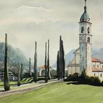 SAN ABBONDIO Certenago/Lugano (2016), 45 x 30, Aquarell/Watercolour Kremer Pigment Colours
