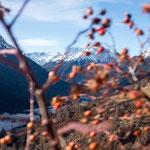 GUARDA Graubünden, Blick Richtung Susch (Dezember 2016)