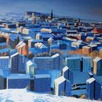 EDINBURGH Schottland (2015), 100 cm x 100 cm, Öl auf Leinwand / oil on canvas. Nach einer Fotografie des britschen Fotografen Craig Brown. // With kind permission of Craig Brown  *VERKAUFT/SOLD*