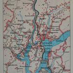 Stadtplan Lugano, Lehrlingsarbeit 3. Lehrjahr (1984)