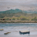 PFÄFFIKER SEE - Gouache, 16 x 11 cm (plein air)