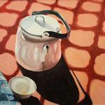 TEEKRUG ((2008), Öl auf Leinwand / oil on canvas, 60 cm x 50 cm *CHF 1000 inkl. Rahmen*
