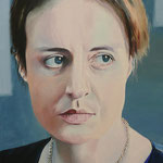 MAREN EGGERT (2010), Öl auf Leinwand / oil on canvas, 30 cm x 40 cm. Deutsche Schauspielerin / German actress